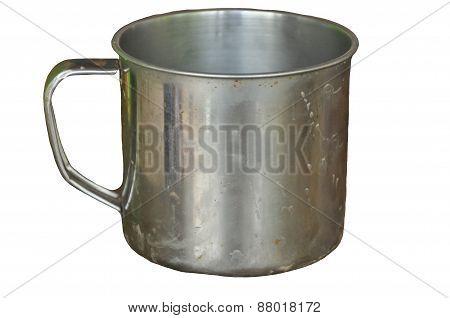 A aluminium mug
