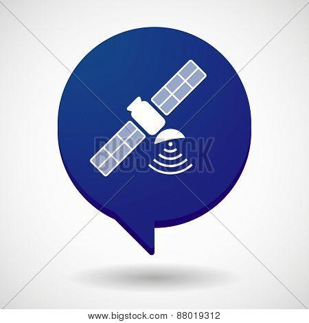 Comic Balloon Icon With A Satellite