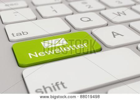 Keyboard - Newsletter - Green