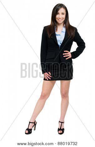 Beautiful businesswoman portrait full length