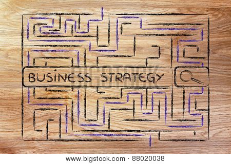 Maze With Search Tags About Business Strategy