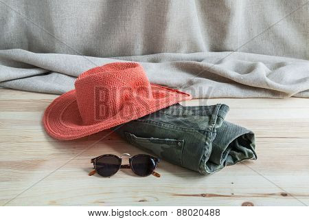 Set Of Various Clothes And Accessories For Women