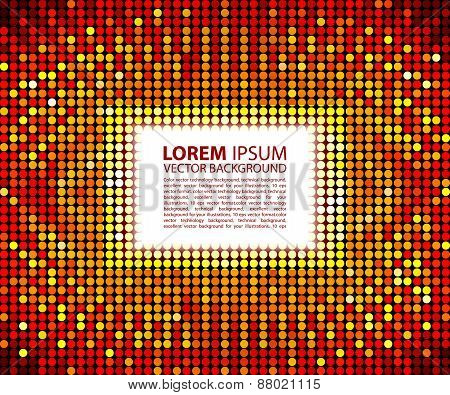 Abstract Red square  Background, raster illustration