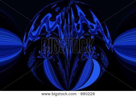 Blue Black Round
