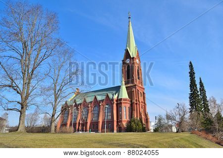 Lutheran Cathedral In Mikkeli, Finland