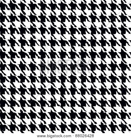 Seamless fashion black and white pattern.