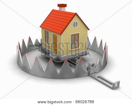 Trap and House (clipping path included)