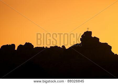 Mont De La Trinité Near Bonifacio In Corsica