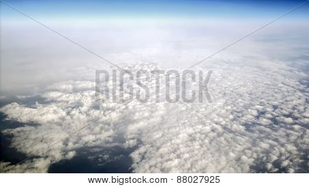 Sky  From An Airplane In Flight