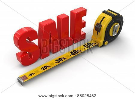 ruler and SALE (clipping path included)