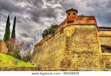 Walls Of The Forte Di Belvedere In Florence - Italy