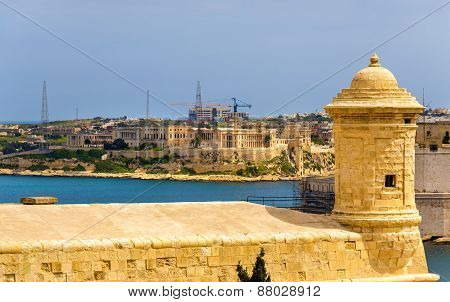 View Of Fortifications Of Valletta - Malta