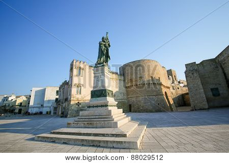 Statue For The Heroes And Martyrs Of Otranto Of 1480, Province Of Lecce, Apulia, Italy.