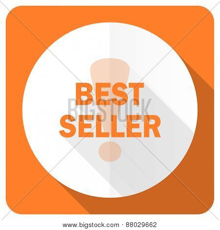 best seller orange flat icon