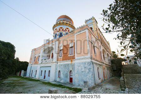 Villa Sticchi In Santa Cesarea Terme, Province Of Lecce, Apulia, Italy.