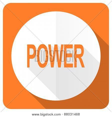 power orange flat icon
