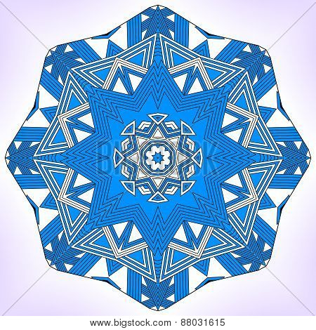 Blue Geometric Mandala.