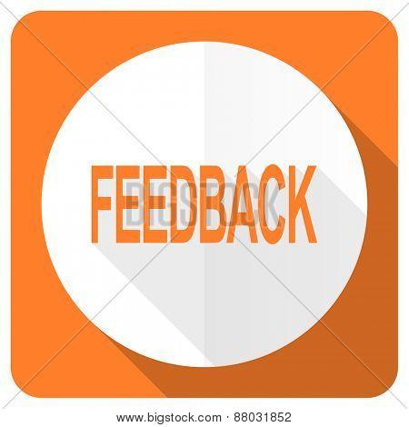 feedback orange flat icon