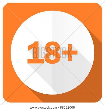 adults orange flat icon