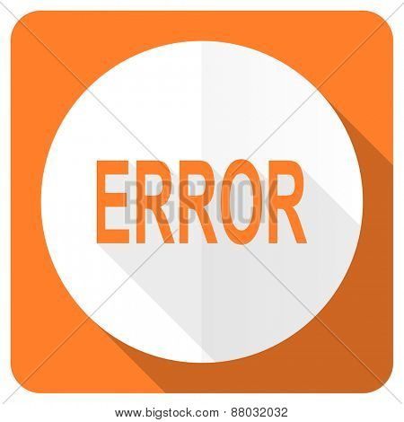 error orange flat icon