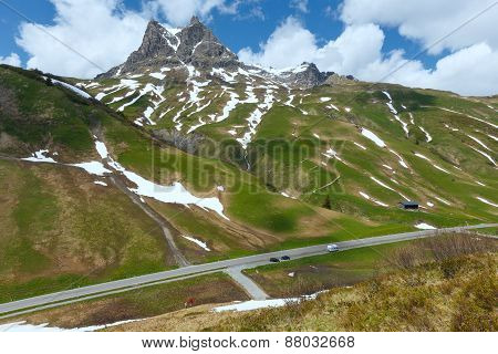 Summer Mountain Sunny Landscape (warth, Austria)