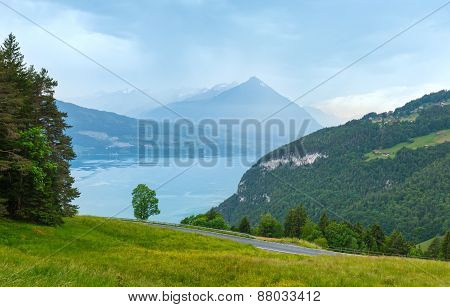 Lake Brienz Summer Top View (switzerland).