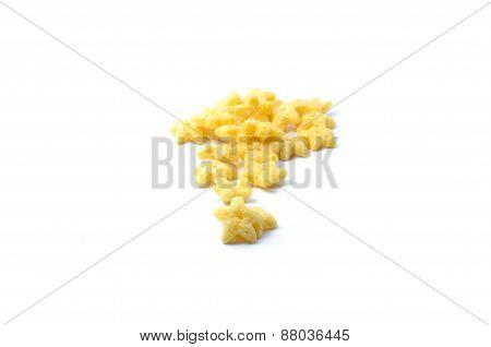 Star shape breakfast cereal