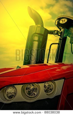 Agricultural Equipment In Sunset Light. Detail 24