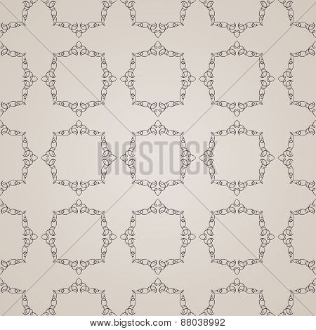 seamless vintage background. Calligraphic ornament pattern wallpaper