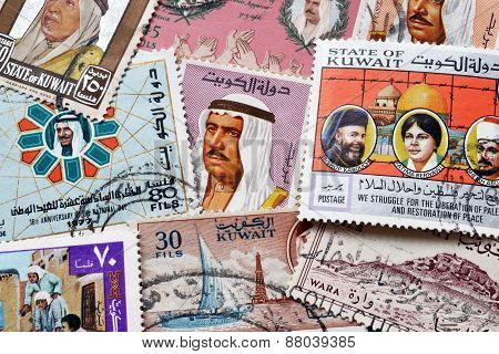 Kuwait on stamps