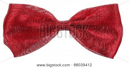 Maroon red hair bow tie