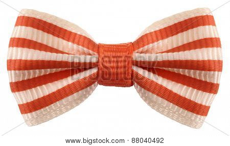 Striped bow tie white orange stripes
