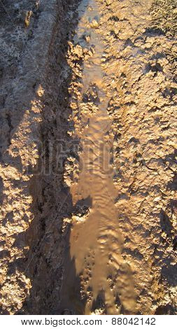 Clay canals in the dirt