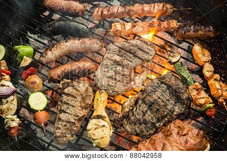Assorted Grilled Food