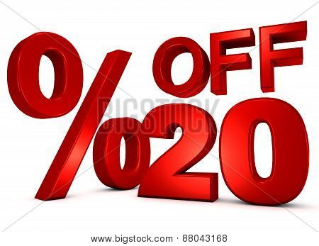 20% Off 3D Word