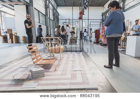 People Visiting Ventura Lambrate Space During Milan Design Week
