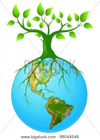 Illustration of symbol of clear Earth