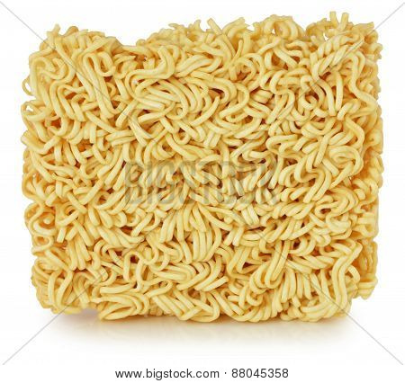 Briquette Of The Twisting Egg Noodles
