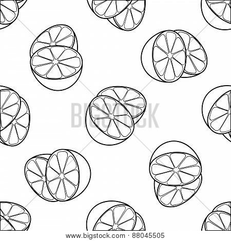 Delightful Garden - Seamless Pattern Of Two Lemon Halves