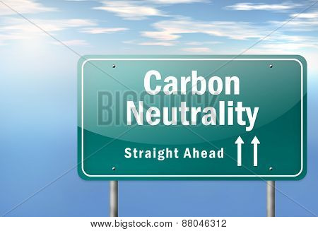 Highway Signpost Carbon Neutrality