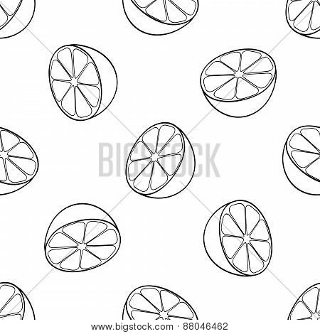 Delightful Garden - Seamless Pattern Of A Lot Of Lemon Halves