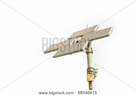 Solar Cell Panel Tower Isolated