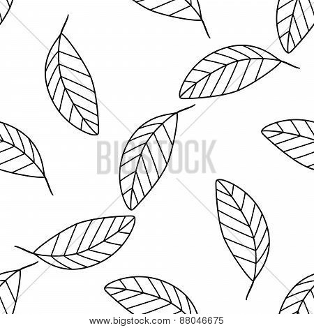 Shadeful Forest - Seamless Pattern Of A Lot Of Simple Mango Leaves