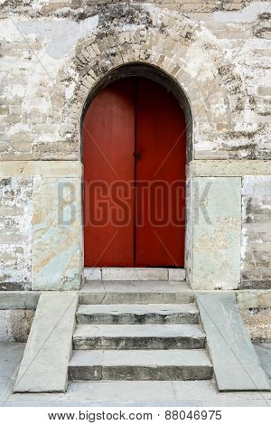 Ancient Old Wooden Door