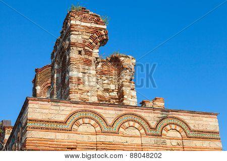 Ruined Church Of Christ Pantokrator, In Old Nessebar