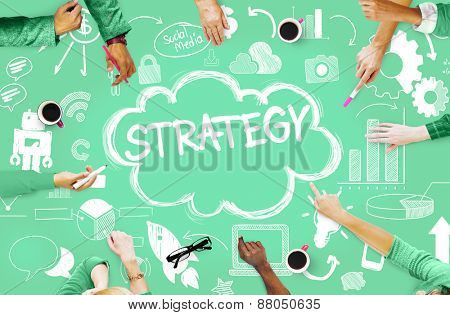 Strategy Online Social Media Networking Marketing Concept