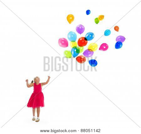 Balloon Fun Activity Aspiration Kid joy Child Concept