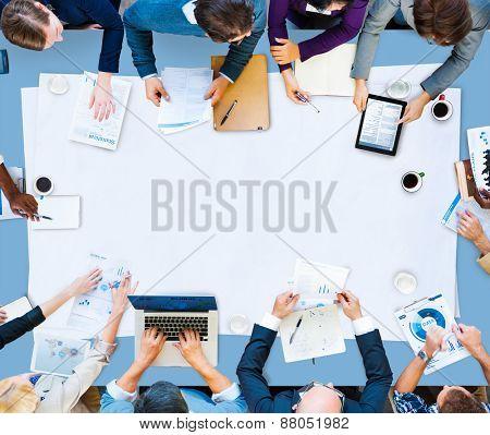 Business People Meeting Brainstorming Teamwork Concept