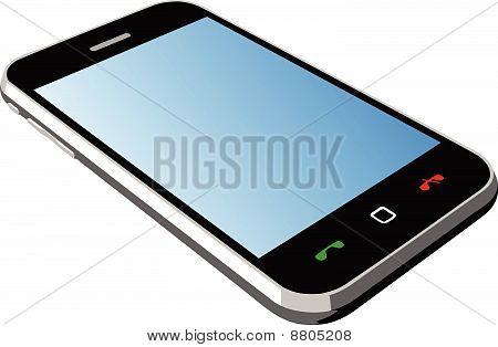 Smartphone blue screen isometric
