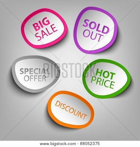 Colorful Abstract Stickers Sale Template